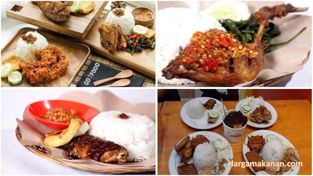 Harga Menu Ayam Goreng Nelongso